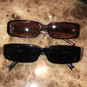 Accessories - Real VINTAGE small rectangular frame sunglasses